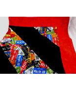 HANDMADE License plates & Red 34X42in BOYS BABY TODDLER FLANNEL QUILTED ... - $22.18