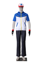 Pokemon Ash Ketchum Cosplay Costume Hat Hoodie Gloves 3rd generation - $59.99