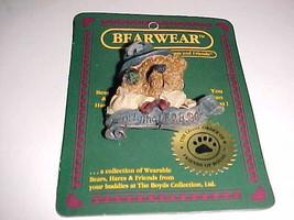 Boyd Bears Friends Uncle Elliot The Head 0199611 Wearable Pin Folk Art 1995 New - $9.89