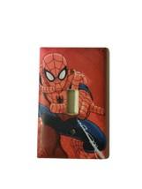 Spiderman Light Switch Cover Plate Playroom Kids Room Cartoon Decor Nursery - $10.49
