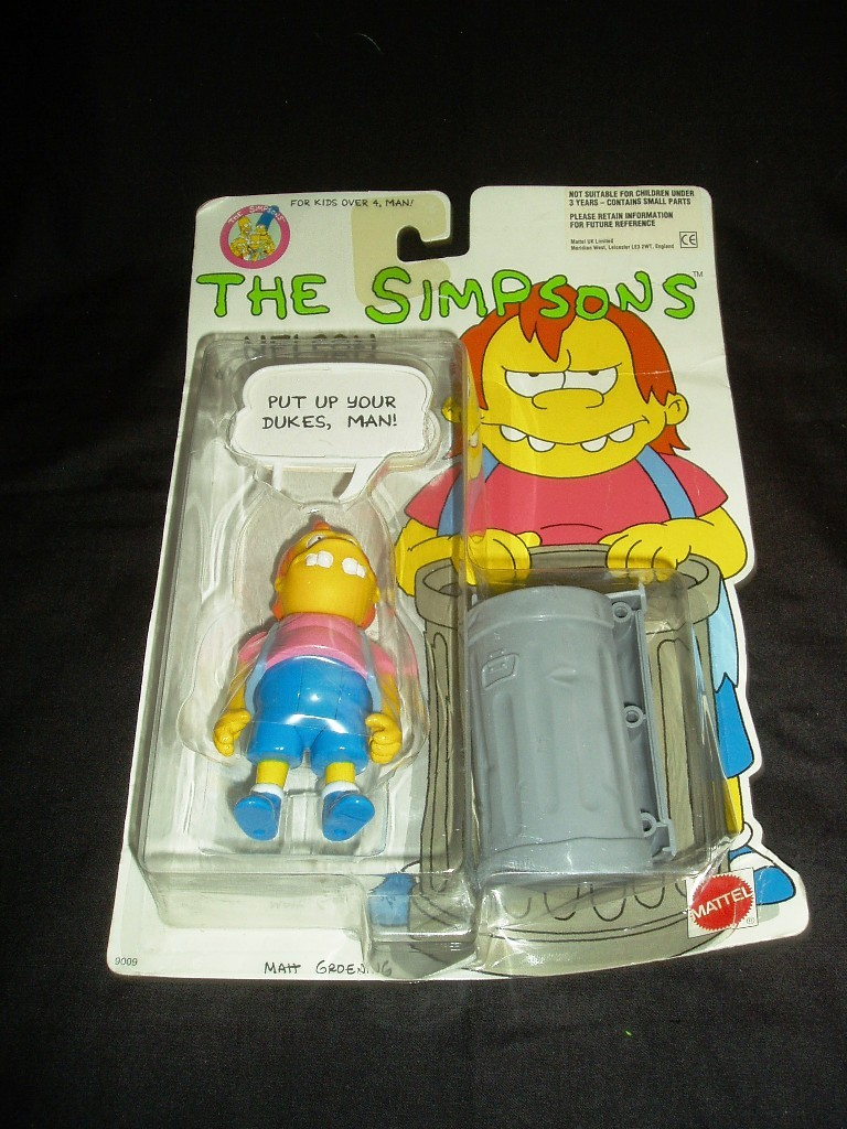 1990 The Simpsons Nelson With 5 Wisecracks! New In Original Package!