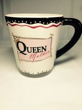 Ganz QUEEN MOTHER Black Pink Large Coffee Tea Cup Mug - $18.95