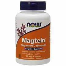 Now Supplements, MagteinTM with Patented Form of Magnesium (Mg), 90 Veg Capsules - $31.40