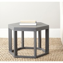 NEW! Safavieh Heidi Charcoal Grey End Table - $186.99