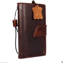 genuine vintage leather case for lg g4 book wallet magnet cover slim bro... - $29.99