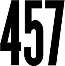 Flooring Duro Decal Permanent Adhesive Vinyl Numbers 6 Gothic Black 6 - $16.52