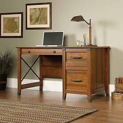 Home Office Desk Computer Writing School Student Secretary Cherry Wood Antique