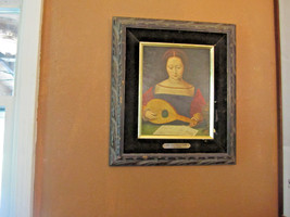 Mary Magdalene Playing a Lute - Masters of Female Half Length Repro Pain... - $71.27