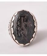 Silver Yemen Yemeni agate aqeeq aqiq Men Ring-M... - $98.01