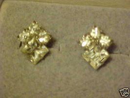 Screw Back Earrings Silver Tone Crystal Rhinestones Vintage - $10.98