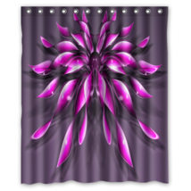 Pink Flower #01 Shower Curtain Waterproof Made From Polyester - $31.26+