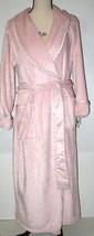 NWT New Natori Pink Faux Fur Robe Womens Long Very Soft Pockets M Dusty Rose Lus image 2