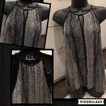 Black white H&M JERSEY Tunic Cami TANK Sz M - $20.00