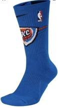 Oklahoma City Thunder Socks Nike NBA Elite Crew OKC Men 8-12 Women 10-13... - $14.70