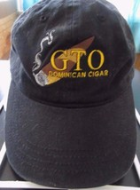 G T O Dominican Cigar Black Adjustable Baseball Cap Hat! Unusual - $25.11