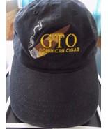 G T O Dominican Cigar Black Adjustable Baseball Cap Hat! Unusual - $25.11