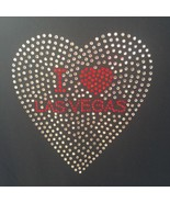 I Heart Las Vegas Black Red Rhinestone Bling Top New With Tags Medium HTF - $16.70