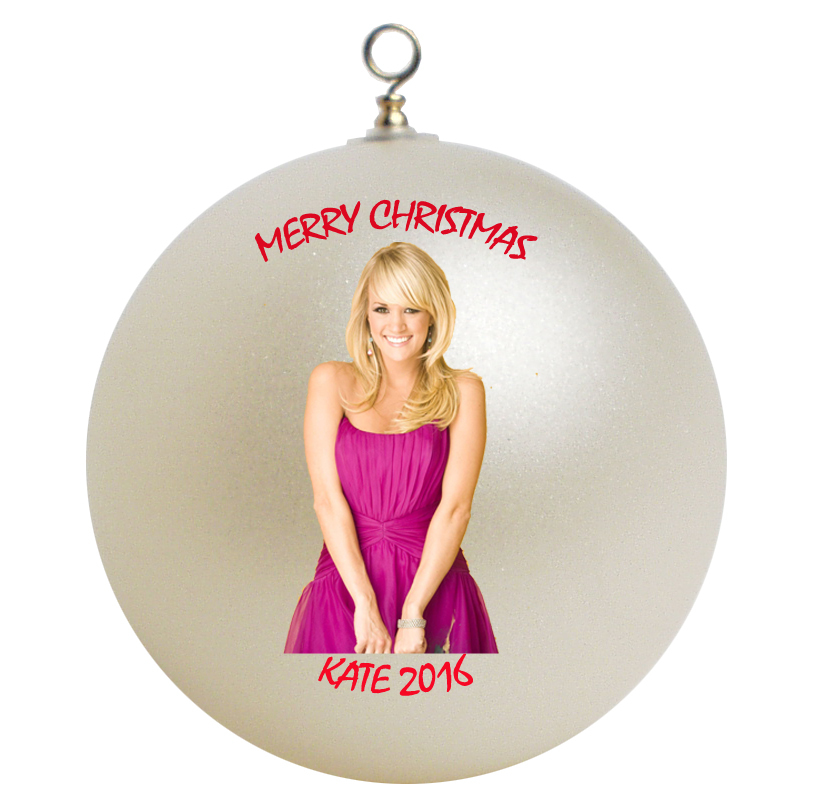 Personalized Carrie Underwood Christmas Ornament Gift #2