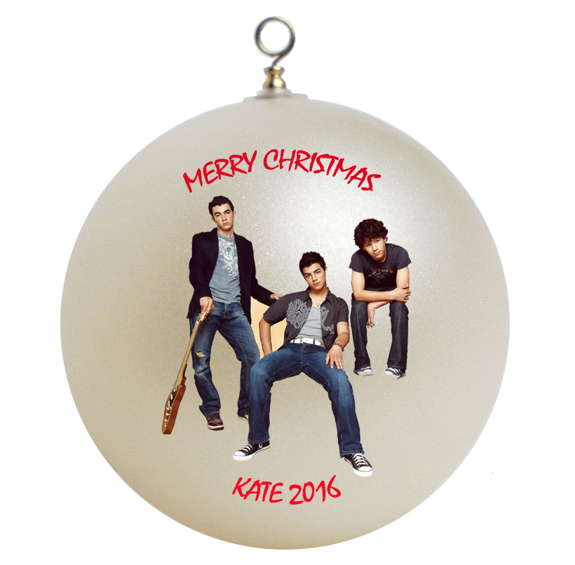 Personalized Jonas Brothers Christmas Ornament Gift #3