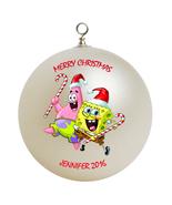 Personalized Spongebob Squarepants Christmas Ornament Gift #2 - $24.95