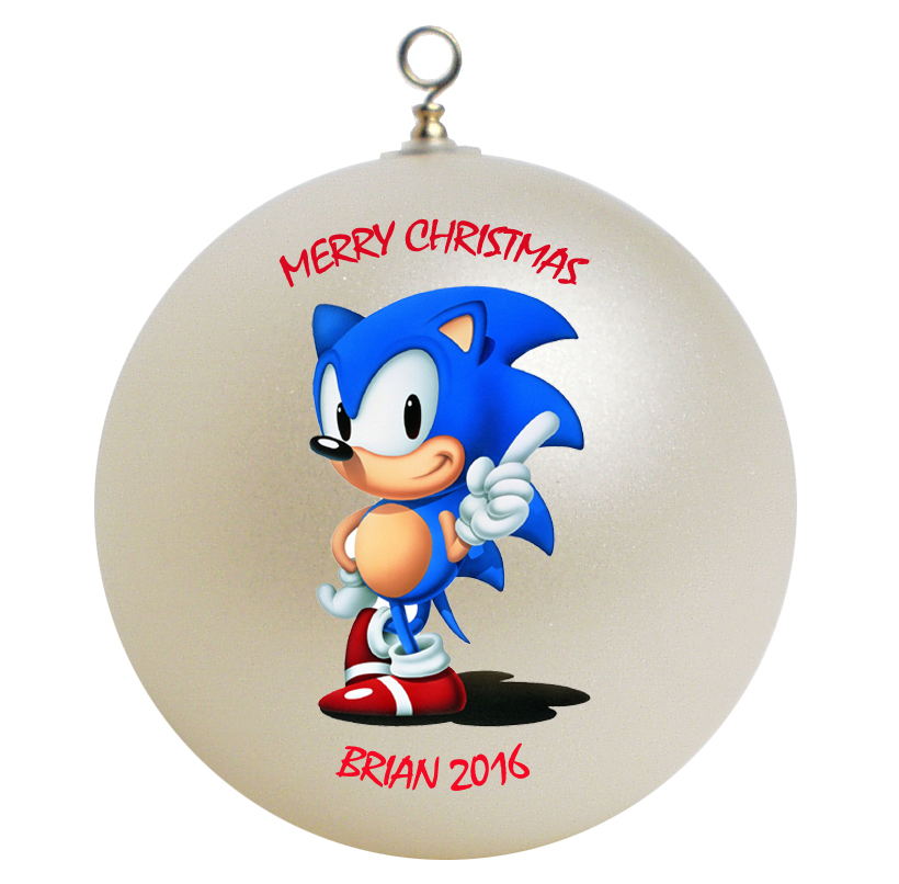 Personalized Sonic the Hedgehog Christmas Ornament Gift #2 ...