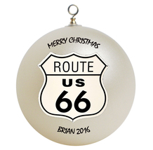 Personalized Route 66 Christmas Ornament Gift - $16.95