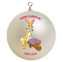 Personalized Winnie the Pooh Rabbit Christmas Ornament Gift - $16.95