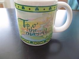 American Greetings Card Top o' The Mornin Irish Leprechauns Scene Coffee... - $5.94