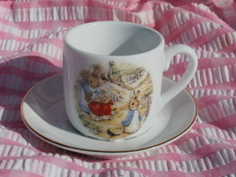 Beatrix Potter Peter Rabbit Child's Cup and Saucer by Reutter Porzellan ... - $9.99