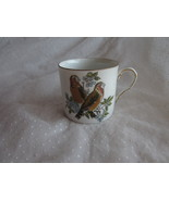 Vintage Fitz Floyd Bird Demitasse Cup Only Decorated w Brown Finch Type ... - $7.99