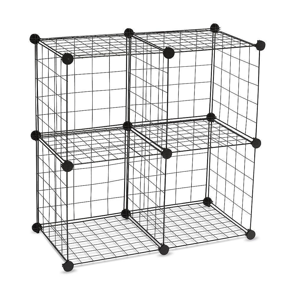 4 Cube Wire Storage Unit Set Of 2 Space Saver Organize