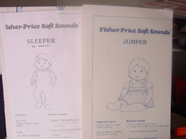 "Two patterns for Baby Soft Sounds - Fisher Price 16"" - $4.99"