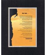 Heartfelt Plaque Motivation  - Don't Quit . . .   on 11x14 Double-Beveled Mattin - $15.95