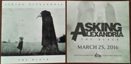 "Asking Alexandria THE BLACK 2016 4"" x 4"" sticker, 2 pcs. New - $5.95"