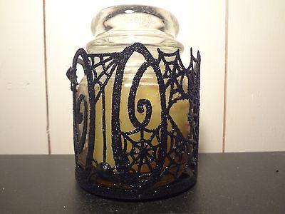 Glitter Spiderweb Jar Candle Sleeve - $6.13