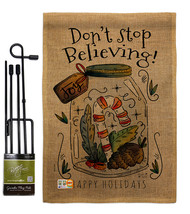 Dont Stop Believing Burlap - Impressions Decorative Metal Garden Pole Fl... - $33.97