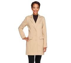 Linea by Louis Dell'Olio Button Front Ponte Knit Jacket    TPE  8 - $61.73
