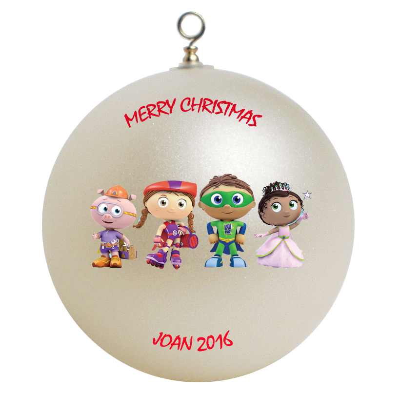 Personalized Super Why Christmas Ornament Gift Ornaments