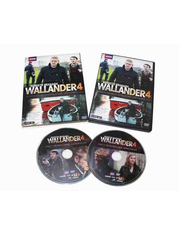 Wallander The Complete Series Season 4 DVD Box Set 2 Disc Free Shipping