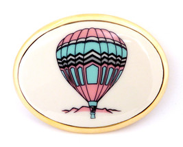 Hot Air Balloon Von West Vintage 1980's Gold Pl... - $75.00