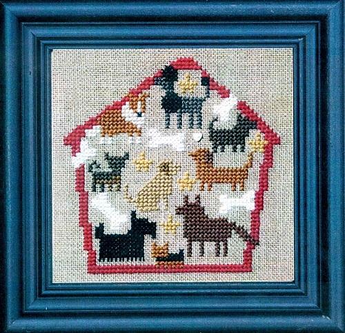 Dog House of Puppy Dogs cross stitch kit Bent Creek  - $19.80
