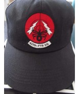 425 th FTR SQ Black Widows Spider Black Adj Baseball Cap Hat by LLDJ ! U... - $31.88