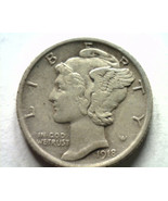 1918 MERCURY DIME EXTRA FINE+ XF+ EXTREMELY FINE+ EF+ NICE ORIGINAL COIN - $39.00