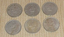 Hong Kong Lot of 6 One Dollar Coins Dated 1960 - $30.00