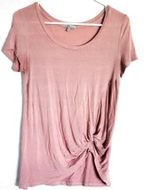 Charlotte Russe Dusty Rose Pink Faux Knot T-Shirt Short Sleeve Top Size XS