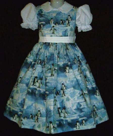 NEW Handmade Daisy Kingdom Pepper Mint Bears Christmas Sparkle Border Dress