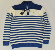 NWT! Tommy Hilfiger Boy's Sweater Knit 1/4 Zip Striped New! Youth Size Large - $28.95