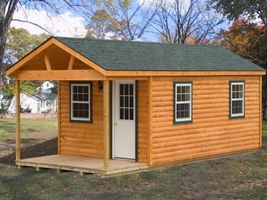 AMISH PA DUTCH CUSTOM HANDMADE12X26 LOG CABIN COTTAGE OUTDOORS SHED WITH... - $13,650.00