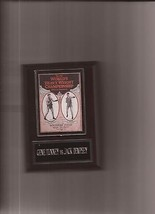Gene Tunney Vs Jack Dempsey Boxing Poster Plaque  - $3.95
