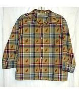 Lemon Grass Plaid Cotton Blouse size PL - $5.00